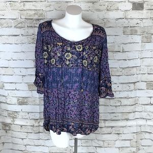 BILLABONG TUNIC TOP Floral Runs Big XS